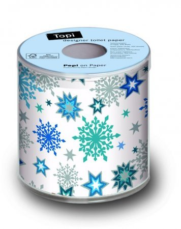 Bedrucktes Toilettenpapier - Stars and Crystals Blue - 1 Rolle